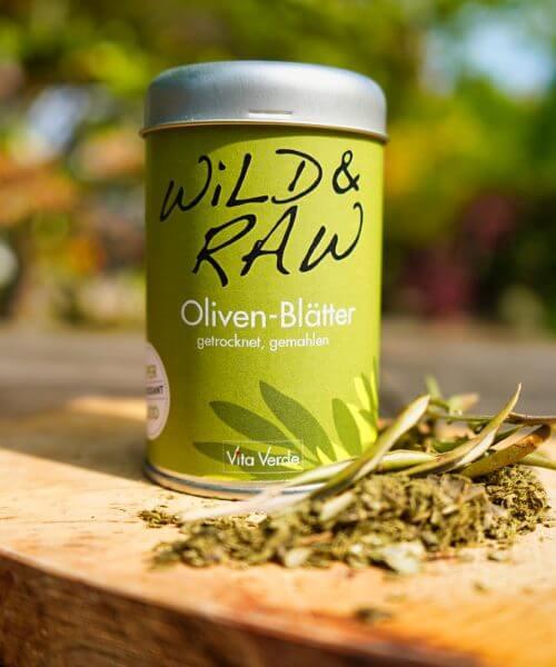 Vita Verde Bio-Oliven-Blätter Auf Brett in Dose