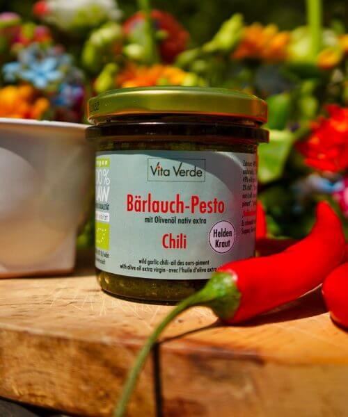 Vita Verde Bio-Bärlauch-Chili Pesto
