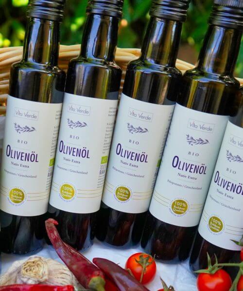 6 Flaschen Bio-Olivenöl 250ml