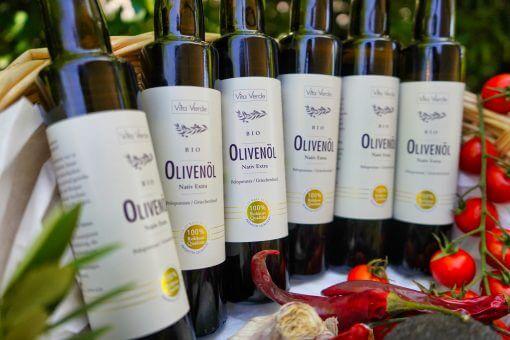 6 Flaschen Bio-Olivenöl