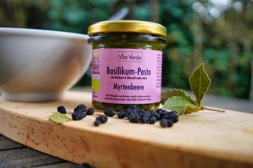 Vita Verde Bio Basilikum Myrtenbeeren Pesto
