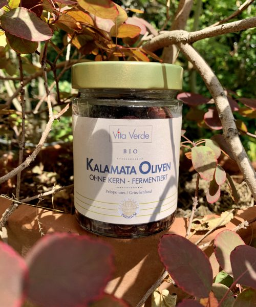 Vita Verde Kalamata-Oliven im Glas