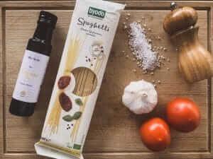 Zutaten für Pasta mit Zitronenöl