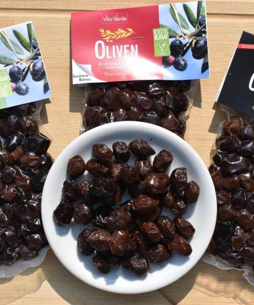 3er Pack Oliven (classic, mediterran, Amfissa classic)