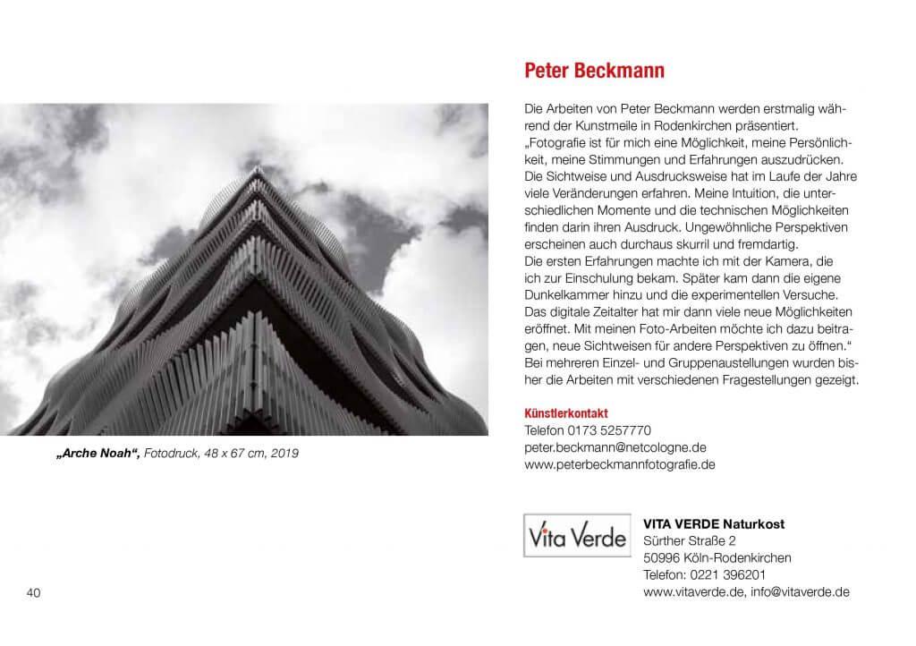 Kunstmeile Rodenkirchen Peter Beckmann